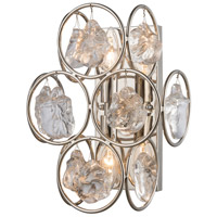 Precious 2 Light 10 inch Polished Nickel Wall Sconce Wall Light