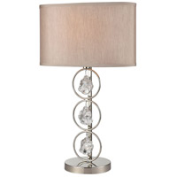 Dimond Lighting D4204 Precious 27 inch 150 watt Polished Nickel Table Lamp Portable Light