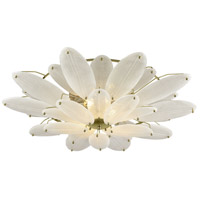 Hush 4 Light 35 inch Polished Nickel with White Flush Mount Ceiling Light