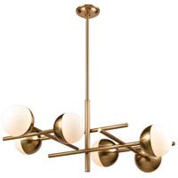 Dimond Lighting D4208 Rumba 6 Light 34 inch Aged Brass Pendant Ceiling Light