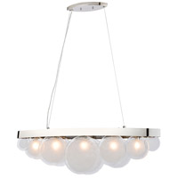 Dimond Lighting D4210 Zoetrope 5 Light 39 inch Polished Chrome with White Island Light Ceiling Light
