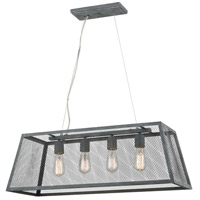 Dimond Lighting D4226 Barriton 4 Light 31 inch Farmhouse Grey Pendant Ceiling Light