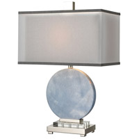 Dimond Lighting D4230 Marble Sky 25 inch 150 watt Blue/Clear Crystal Table Lamp Portable Light