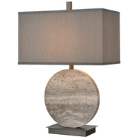 Dimond Lighting D4232 Vermouth 27 inch 150 watt Dark Dunbrook and Grey Stone Table Lamp Portable Light