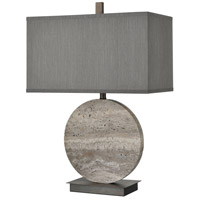 Dimond Lighting D4232 Vermouth 27 inch 150 watt Dark Dunbrook and Grey Stone Table Lamp Portable Light alternative photo thumbnail