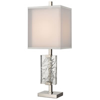 Dimond Lighting D4235 Slice of Ice 33 inch 150 watt Polished Nickel Table Lamp Portable Light