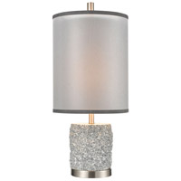 Dimond Lighting D4236 Rock On 25 inch 100 watt Brushed Nickel Table Lamp Portable Light photo thumbnail