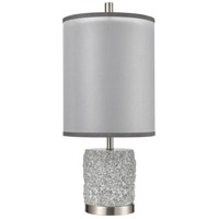 Dimond Lighting D4236 Rock On 25 inch 100 watt Brushed Nickel Table Lamp Portable Light alternative photo thumbnail