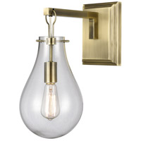 Dimond Lighting D4245 Brass Tear 1 Light 8 inch Antique Brass/Clear Sconce Wall Light