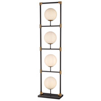 Dimond Lighting D4264 Career Ladder 59 inch 40 watt Matte Black and Aged Brass Floor Lamp Portable Light