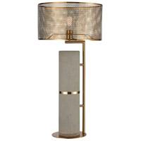 Dimond Lighting D4269 Katwijick 38 inch 100 watt Concrete/Aged Brass Table Lamp Portable Light