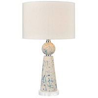 Dimond Lighting D4283 Libertine 28 inch 150 watt White/Blue Table Lamp Portable Light