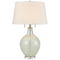 Clear/White Metal Table Lamps