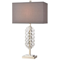 Dimond Lighting D4287 Icy Reception 28 inch 150 watt Clear/Chrome Table Lamp Portable Light