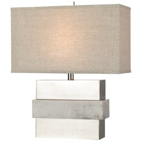 Dimond Lighting D4289 Keystone 23 inch 150 watt White/Silver Table Lamp Portable Light Short