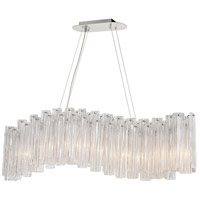 Dimond Lighting D4294 Diplomat 9 Light 47 inch Clear/Chrome Chandelier Ceiling Light
