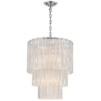 Dimond Lighting D4295 Diplomat 14 Light 21 inch Clear/Chrome Chandelier Ceiling Light, Medium