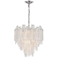 Dimond Lighting D4297 Diplomat Staggered 10 Light 22 inch Chrome Pendant Ceiling Light, Small