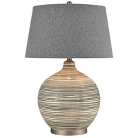 Dimond Lighting D4303 Event 28 inch 150 watt Grey and Off-white and Pewter Table Lamp Portable Light