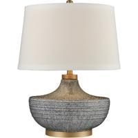 Dimond Lighting D4304 Damascus 24 inch 150 watt Blue Bubble Glaze and Matte Brushed Gold Table Lamp Portable Light