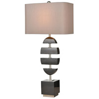 Dimond Lighting D4317 Divergent 32 inch 150 watt Black Marble/Polished Nickel Table Lamp Portable Light