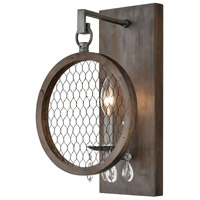 Dimond Lighting D4328 Renaissance Invention 1 Light 9 inch Aged Wood/Weathered Zinc Sconce Wall Light