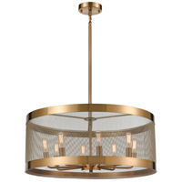 Dimond Lighting D4333 Line in the Sand 8 Light 24 inch Satin Brass/Antique Silver Chandelier Ceiling Light