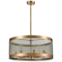 Dimond Lighting D4333 Line in the Sand 8 Light 24 inch Satin Brass/Antique Silver Chandelier Ceiling Light alternative photo thumbnail