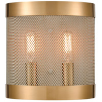 Dimond Lighting D4335 Line in the Sand 2 Light 8 inch Satin Brass/Antique Silver Sconce Wall Light