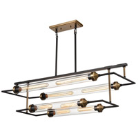 Dimond Lighting D4336 North By North East 8 Light 40 inch Oil Rubbed Bronze/Satin Brass Chandelier Ceiling Light
