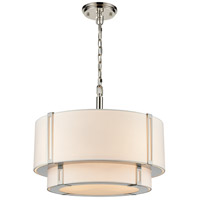 Dimond Lighting D4343 Rudolfo 4 Light 19 inch White/Polished Nickel Chandelier Ceiling Light