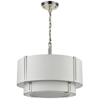 Dimond Lighting D4343 Rudolfo 4 Light 19 inch White and Polished Nickel Pendant Ceiling Light alternative photo thumbnail