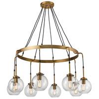 Dimond Lighting D4347 Mountain Creek 8 Light 41 inch Aged Brass Chandelier Ceiling Light Large
