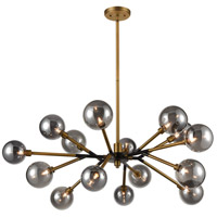 Dimond Lighting D4349 Starting Point LED 41 inch Aged Brass Chandelier Ceiling Light