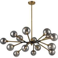 Dimond Lighting D4349 Starting Point LED 41 inch Aged Brass/Matte Black Chandelier Ceiling Light