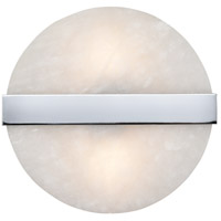 Dimond Lighting D4352 Stonewall 2 Light 9 inch White/Chrome Sconce Wall Light