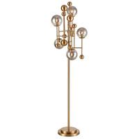 Dimond Lighting D4361 Ballantine 70 inch 40 watt Aged Brass / Smoked Glass Floor Lamp Portable Light