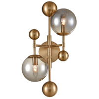 Dimond Lighting D4362 Ballantine 2 Light 12 inch Aged Brass / Smoked Glass Sconce Wall Light