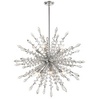 Dimond Lighting D4378 Starbound 10 Light 35 inch Clear / Chrome Chandelier Ceiling Light