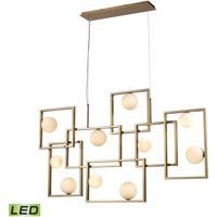 Dimond Lighting D4380 Amazed LED 51 inch Aged Brass / White Island Light Ceiling Light