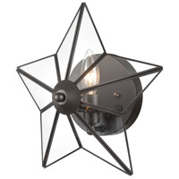 Dimond Lighting D4387 Moravian Star 1 Light 12 inch Oil Rubbed Bronze/Clear Sconce Wall Light, Large