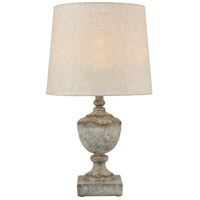 Dimond Lighting D4389 Regus 24 inch 100 watt Grey/Antique White Outdoor Table Lamp