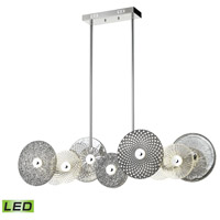Dimond Lighting D4420 Dream Catcher LED 48 inch Chrome / Smoked Glass / Clear Glass Chandelier Ceiling Light