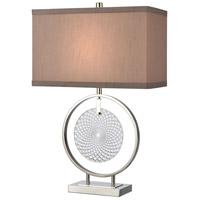 Dimond Lighting D4493 Saturn 27 inch 150 watt Chrome / Clear Table Lamp Portable Light