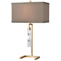 Dimond Lighting D4495 Auberge 31 inch 150 watt Gold Leaf / Clear Crystal Table Lamp Portable Light