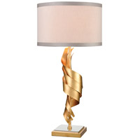 Dimond Lighting D4499 Shake It Off 33 inch 150 watt Gold Leaf / Polished Nickel Table Lamp Portable Light