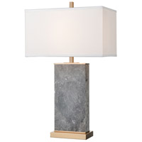 Dimond Lighting D4507 Archean 30 inch 150 watt Gray Marble / Cafe Bronze Table Lamp Portable Light