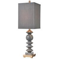 Dimond Lighting D4508 Grey Charles 32 inch 100 watt Gray Marble / Cafe Bronze Table Lamp Portable Light