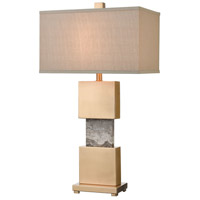 Dimond Lighting D4509 Aldern 32 inch 150 watt Cafe Bronze / Brown Stone Table Lamp Portable Light