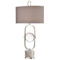 Dimond Lighting D4510 On Closer Examination 36 inch 150 watt Gray Marble / Satin Nickel / Clear Crystal Table Lamp Portable Light
